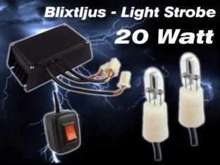 20 W Blixtljus LIGHT Strobe för 12 V