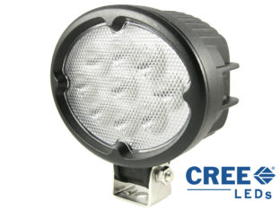 27 W LED Arbetslampa med 9x 3 W CREE LED för 12 V & 24 V
