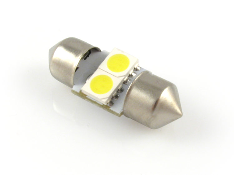 28 mm LED C5W spollampa med 2x SMD för 12 V