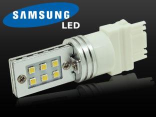 3156 P27W LED lampa med 12x Samsung SMD för 12 V & 24 V