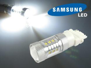 3156 P27W LED lampa med 16x Samsung SMD för 12 V & 24 V