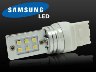 7440 W21W LED lampa med 12x Samsung SMD för 12 V & 24 V