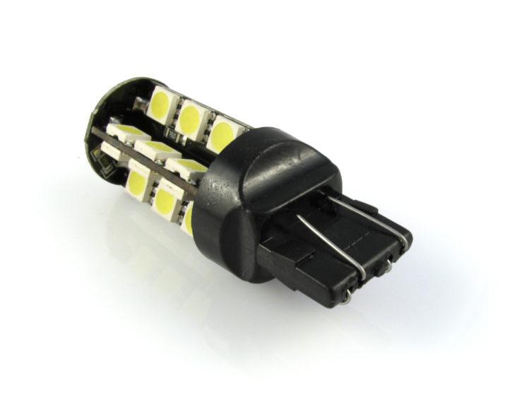 7443 W21/5W CANbus LED lampa med 27x SMD för 12 V