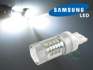 7443 W21/5W Diodlampa med 16x Samsung SMD för 12 V & 24 V