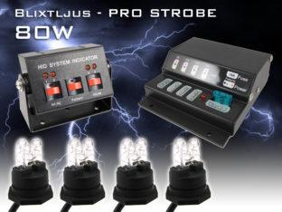 80 W blixtljus Professional Strobe för 12 V
