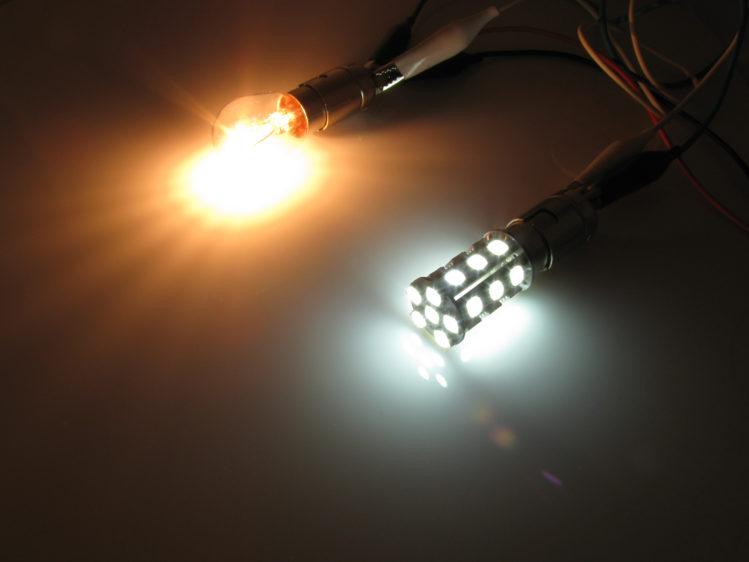 BA15s P21W LED lampa med 24x SMD för 12 V