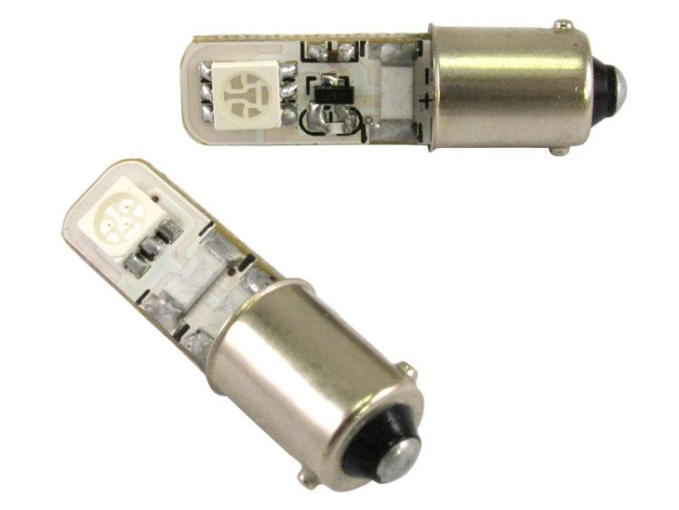 BA9s T4W CANbus LED lampa med 2x 5050 SMD för 12 V