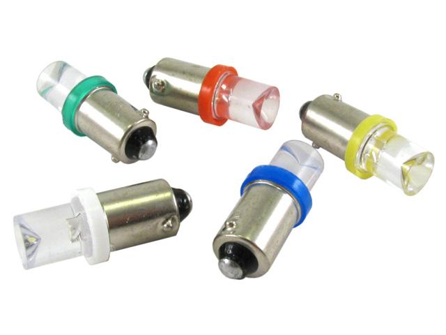 BA9s T4W LED lampa med 1x konkav LED för 12 V