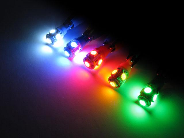 BA9s T4W LED lampa med 5x 5050 SMD för 12 V & 24 V