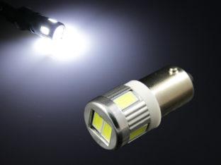 BA9s T4W LED lampa med 6x 5630 SMD för 12 V & 24 V
