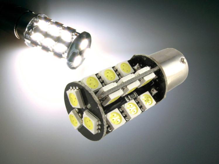 BAY15d P21/5W CANbus LED lampa med 27x 5050 SMD för 12 V