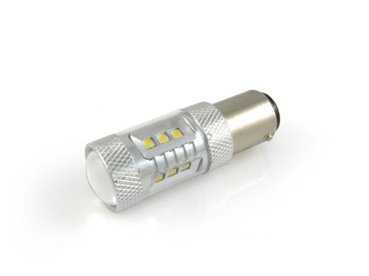BAY15d P21/5W LED lampa med 16x Samsung SMD för 12 V & 24 V