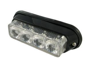 Blixtljus lampa med 4x högeffekt LED för 12 V