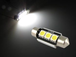 CANbus LED spollampa med kylfläns för 12 V