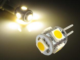 G4 LED Lampa med 5x 5050 SMD för 12 V AC/DC