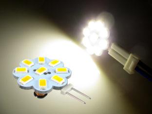 G4 LED Lampa med 9x 5630 SMD för 12 V & 24 V AC/DC