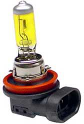Goldlook lampor med gult ljus för 12 V