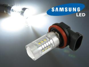 H8 LED lampa med 16x Samsung SMD för 12 V & 24 V
