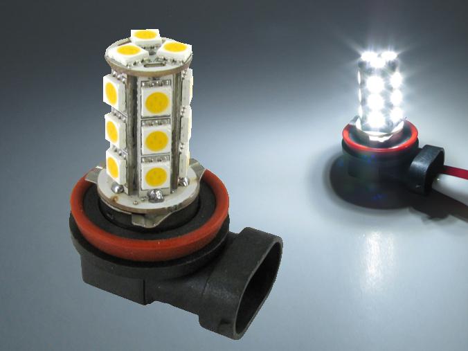 H8 LED lampa med 18x 5050 SMD för 12 V