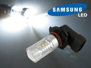 HB4 9006 P22d LED lampa med 16x Samsung SMD för 12 V & 24 V