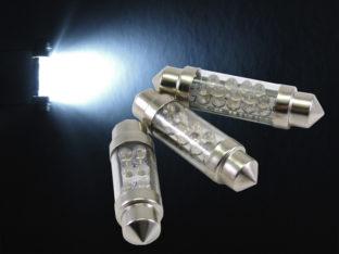 LED C5W spollampa med 3 mm LED för 12 V