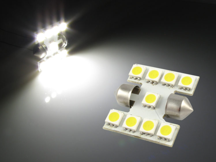 LED C5W spollampa med 9x 5050 SMD för 12 V