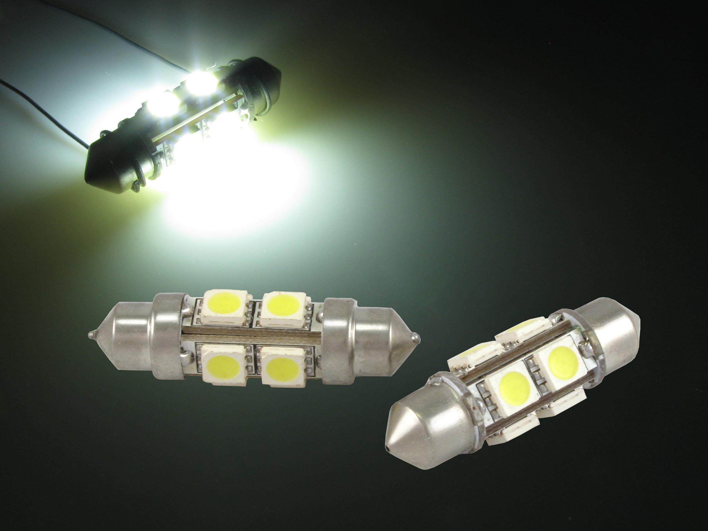 LED Glödlampa C5W C10W 6 led 36mm Biltillbehör & delar