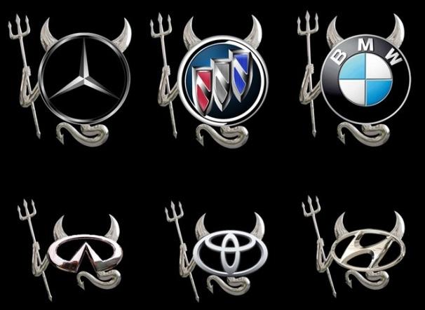 Logotyp djävul - 3D klistermärke