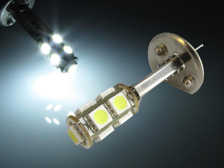 P14.5s H1 LED lampa med 5050 SMD för 12 V