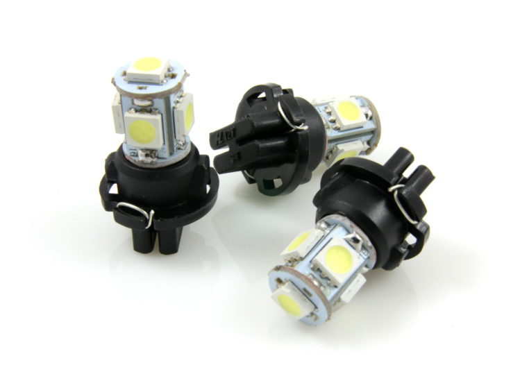 PC168 LED lampa med 5x 5050 SMD för 12 V