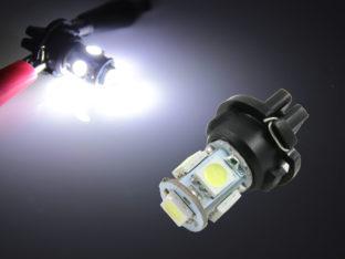 PC168 LED lampa med 5x 5050 SMD för 12 V