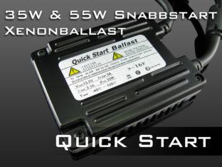 Professional snabbstart xenonballast för 12 V - 35 W & 55 W