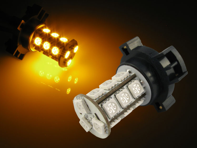 PY24W PGU20-4 LED lampa för blinkersljus - 12 V