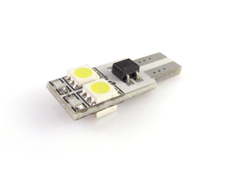 T10 W5W CANbus LED lampa med 4x 5050 SMD för 12 V