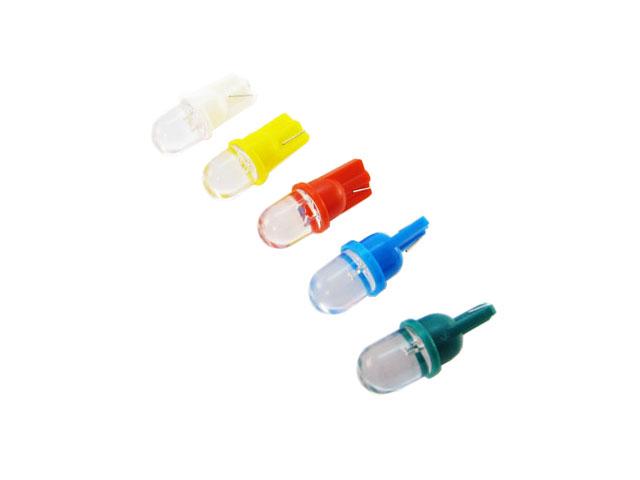 T10 W5W LED lampa med 1x klar konvex LED för 12 V & 24 V
