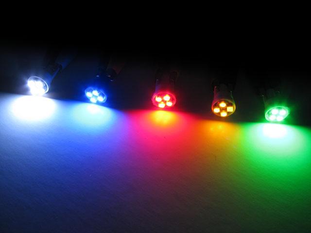 LED lampa 12V, T10, W5W, med 4x 3528 SMD. Diodlampa för bil