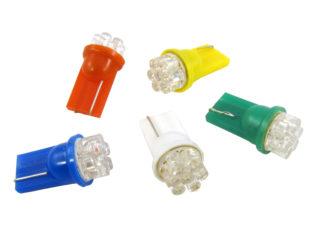 T10 W5W LED lampa med 7x 3 mm konkava LED för 12 V