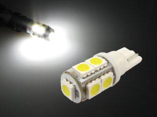 T10 W5W LED lampa med 9x 5050 SMD för 12 V