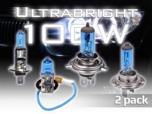 Ultrabright 100 W xenonlook lampor för 12 V