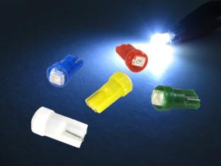 W2.3W T5 LED lampa med 1x 3528 SMD för 12 V