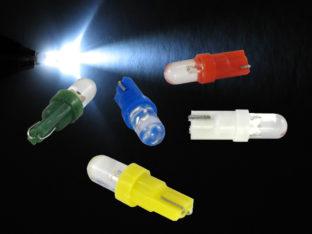 W2.3W T5 LED lampa med 1x LED konvex lins för 12 V