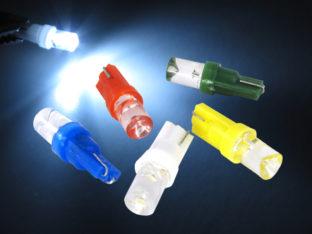 W2.3W T5 LED lampa med 1x LED platt lins för 12 V