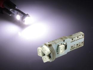 W2.3W T5 LED lampa med 5x 3528 SMD för 12 V
