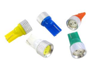W5W T10 LED lampa med 1x högeffekts LED för 12 V