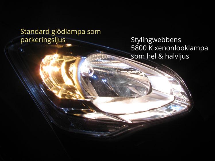 5800 K xenonlooklampa