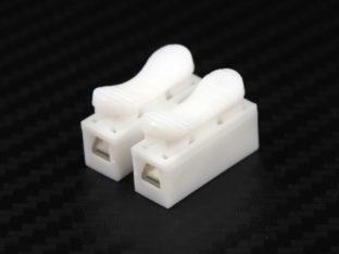 Kopplingslist utan skruv för två kablar